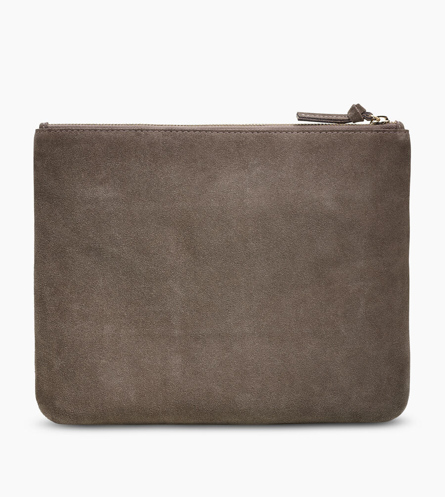 Large Zip Pouch Suede - Image 3 of 5