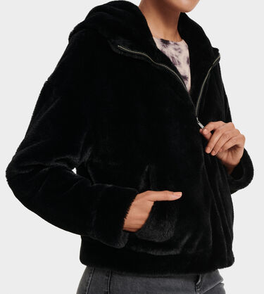 Mandy Faux Fur Hoodie Alternative View