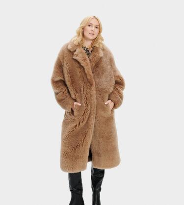 Esme Long Shearling Coat