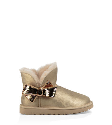 Mini Sequin Bow Boot