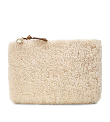 Medium Sheepskin Zip Pouch