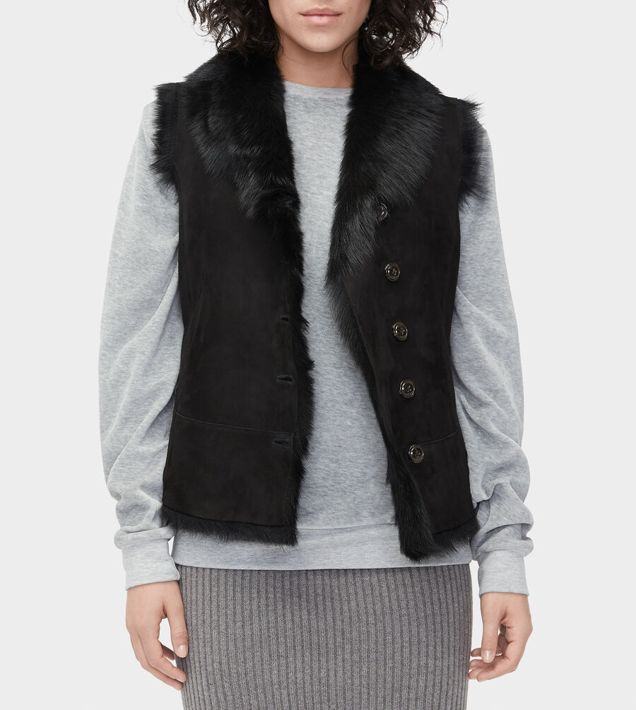 Renee Toscana Shearling Vest  - Image 5 of 6