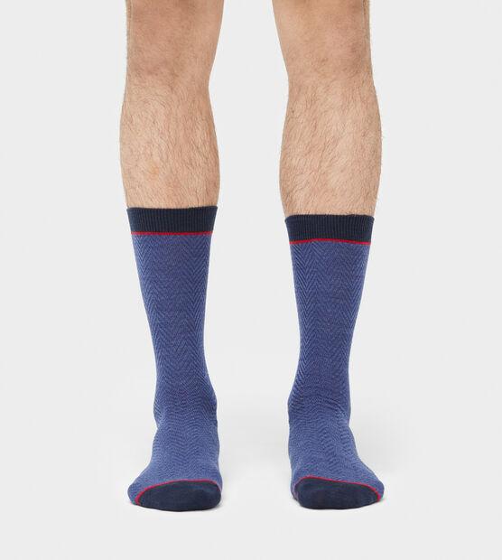 Ezren Herringbone Crew Sock