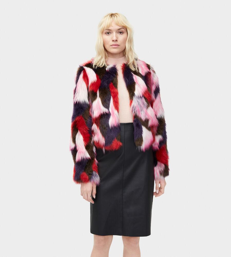 Lorrena Patchwork Faux Fur - Image 1 of 3