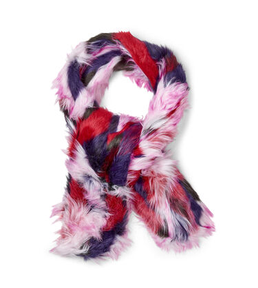 Faux Fur Patchwork Scarf