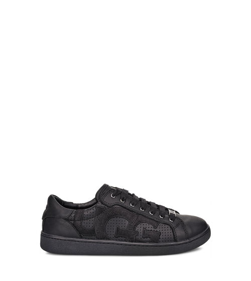 UGG Womens Milo Graphic Sneaker Leather In Black, Size 9