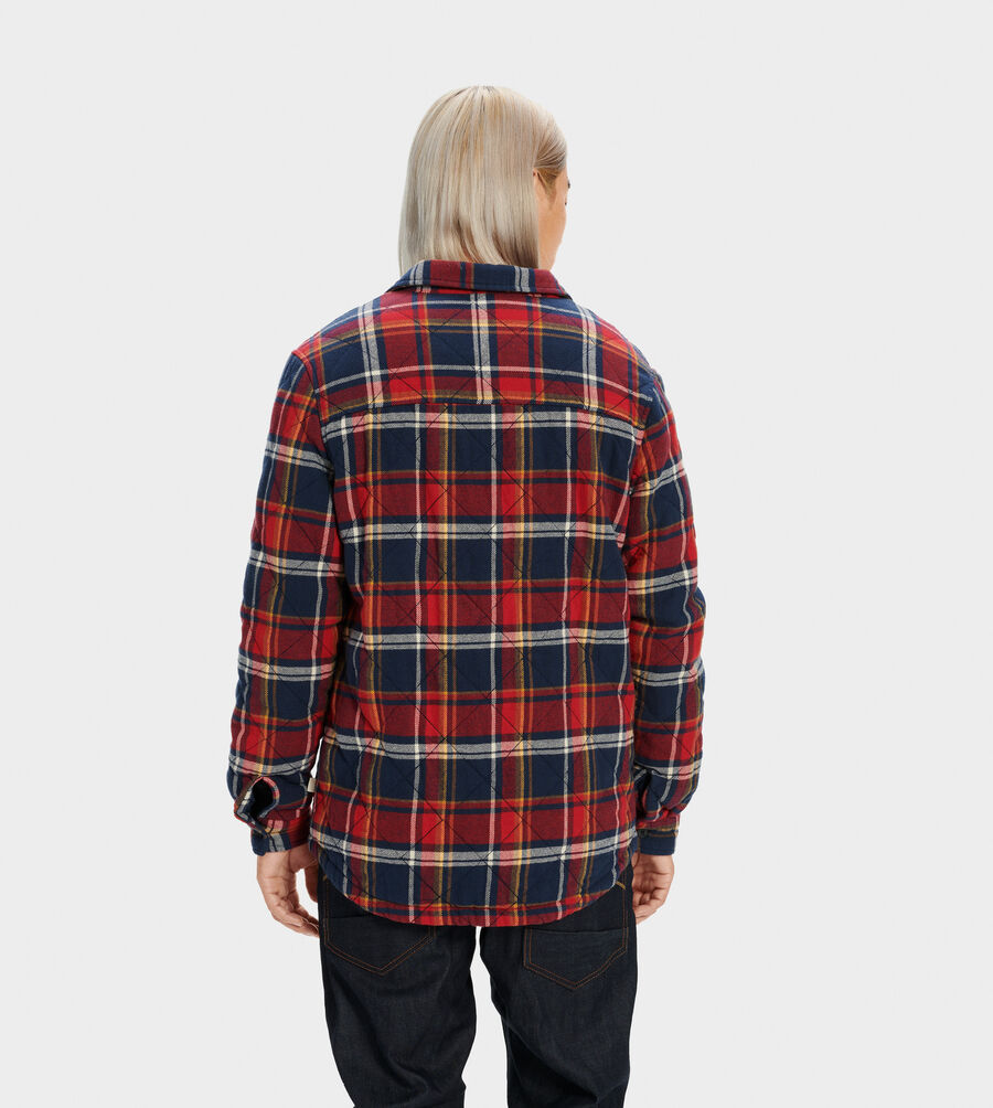Trent Quilted Shirt Jacket Plaid - Image 3 of 5