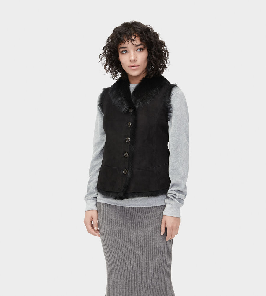 Renee Toscana Shearling Vest  - Image 3 of 6