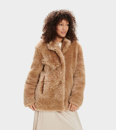 Lianna Short Shearling Coat Alternative View