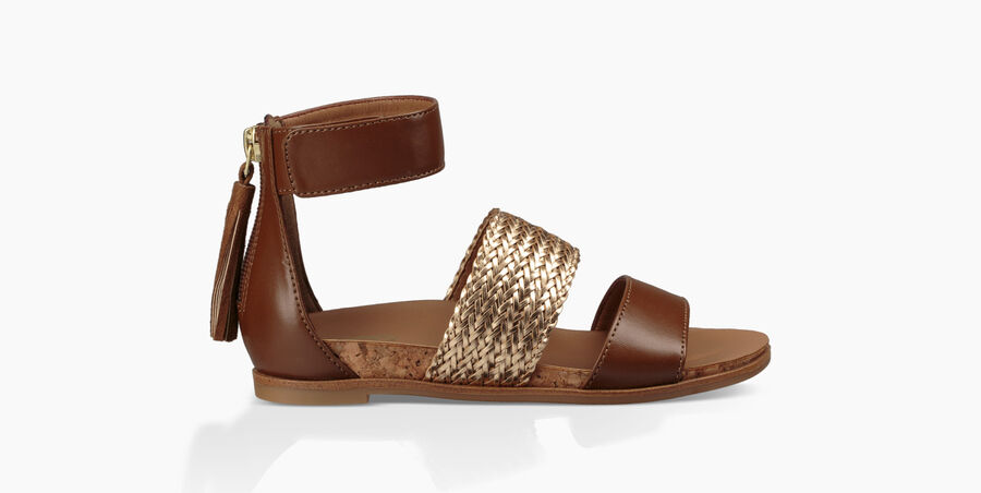 Marabel Metallic Sandal - Image 1 of 6