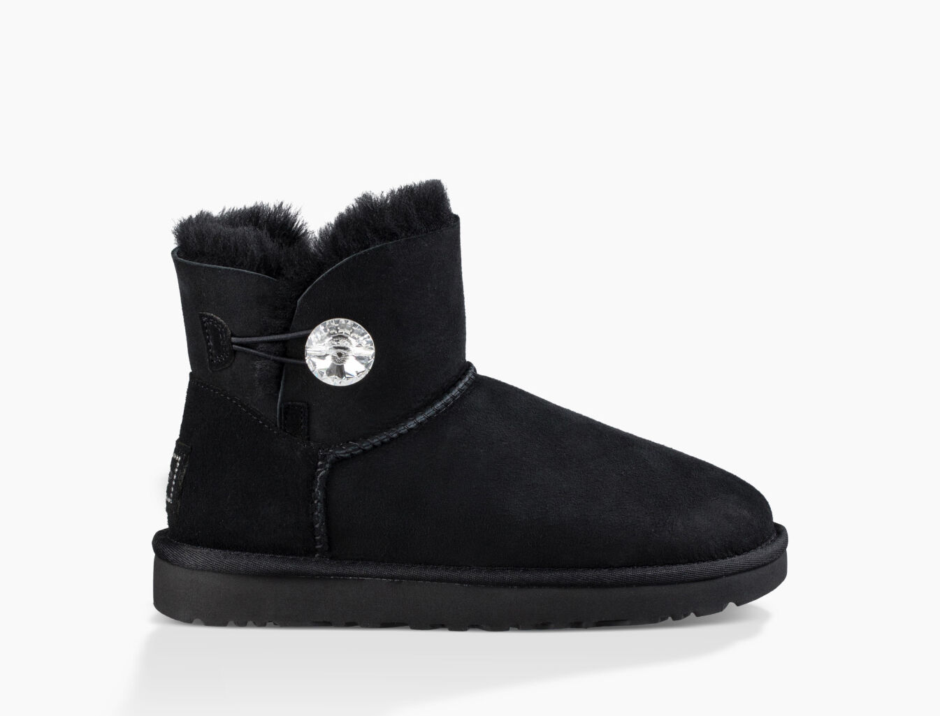 UGG Boots Womens - UGG Mini Bailey Button Bling Black