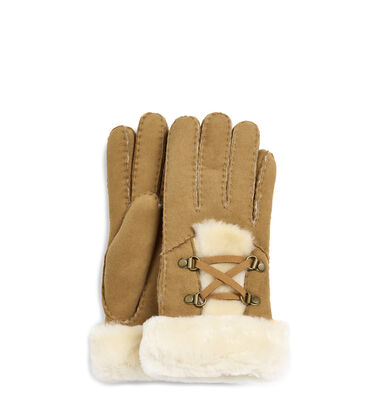 Laced Sheepskin Glove