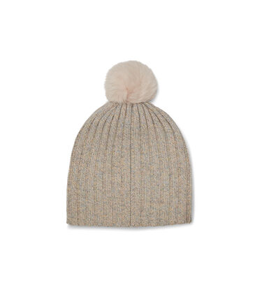 Pippa Rib Knit Pom Hat Alternative View