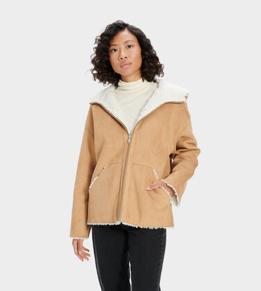 Jody Faux Shearling Hoodie Alternative View