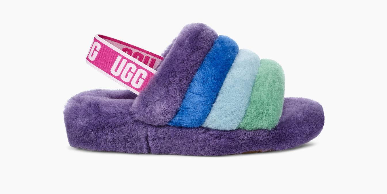 colorful uggs slides