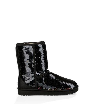 어그 UGG Classic Short Sequin Boot,BLACK