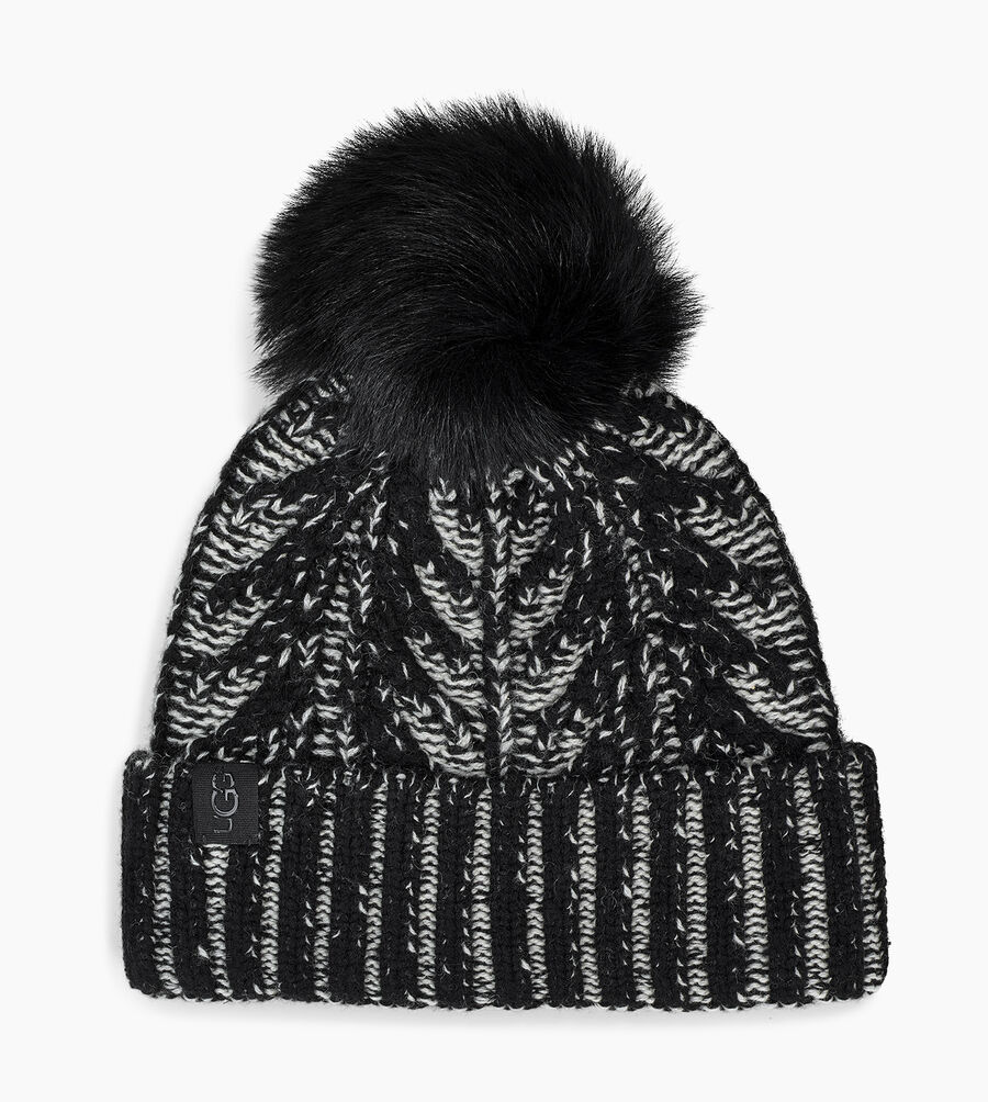 Cable Pom Beanie - Image 1 of 2