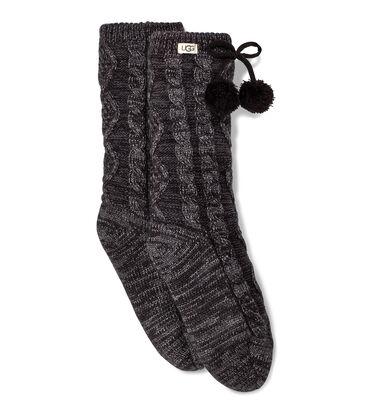 Pom Lurex Fleece Lined Crew Sock