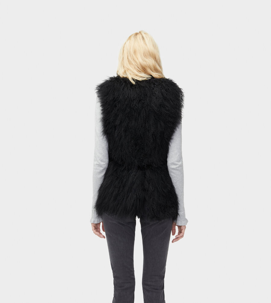 Abbey Mongolian Shearling Vest - Image 3 of 5