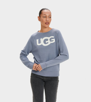 Fuzzy Logo Crewneck Sweatshirt