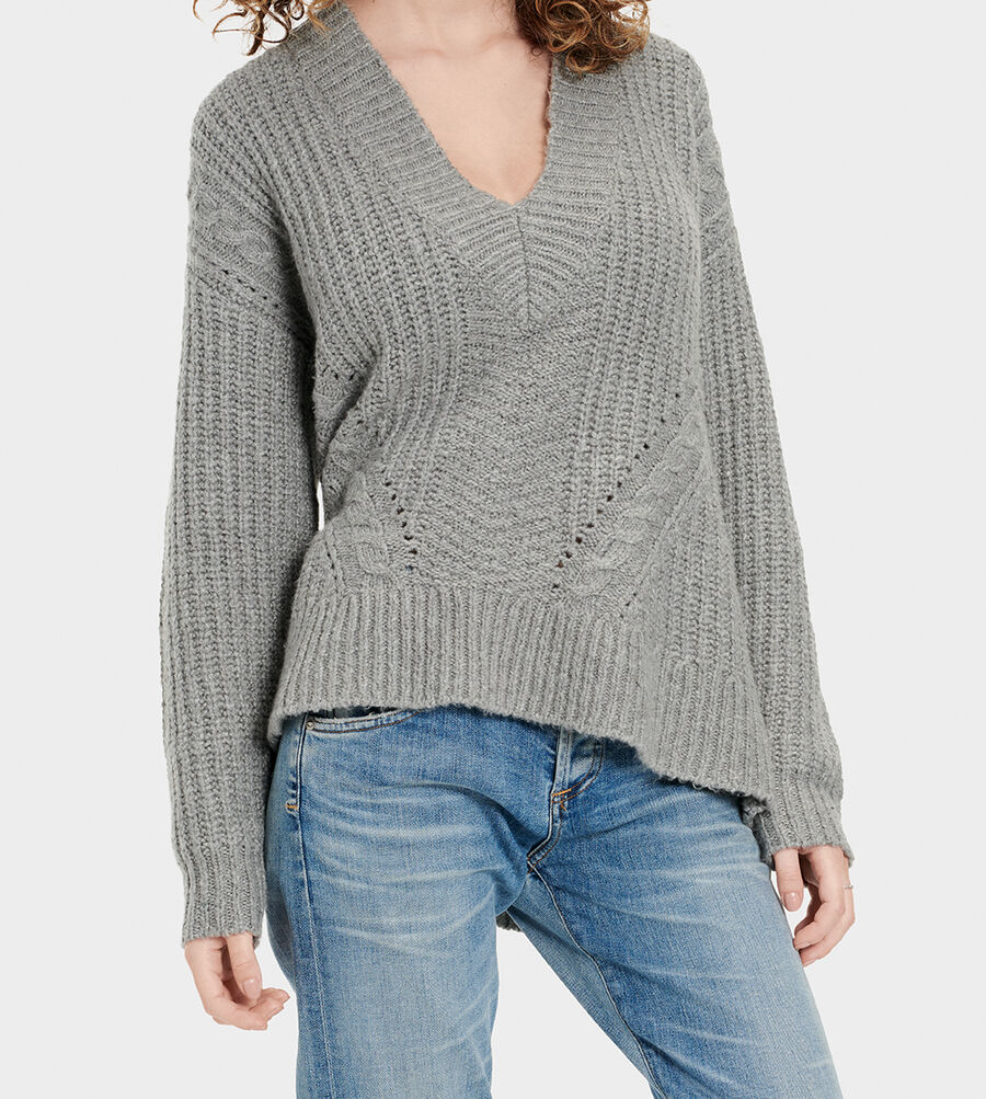 Alva Deep V-Neck Sweater - Image 3 of 6