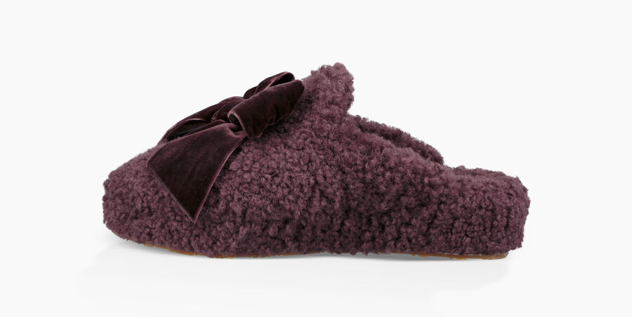 Addison Velvet Bow Slipper - Image 3 of 6