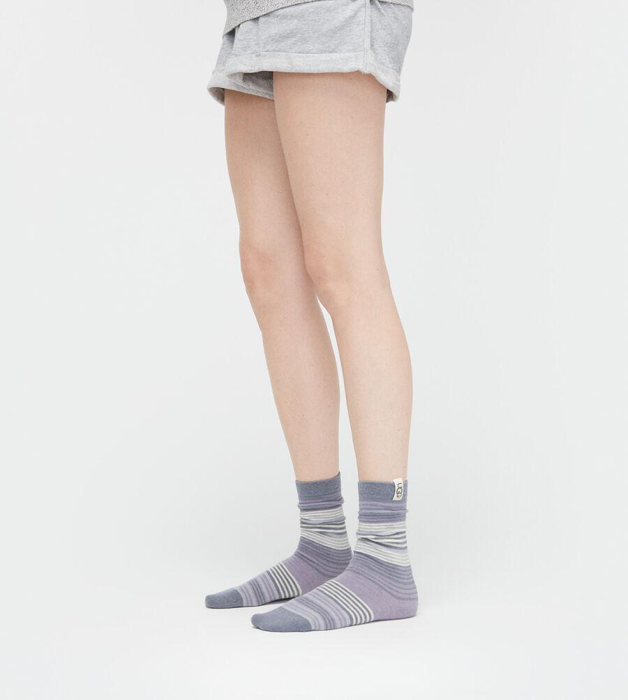 Merino Wool Jacquard Crew Sock - Image 2 of 2