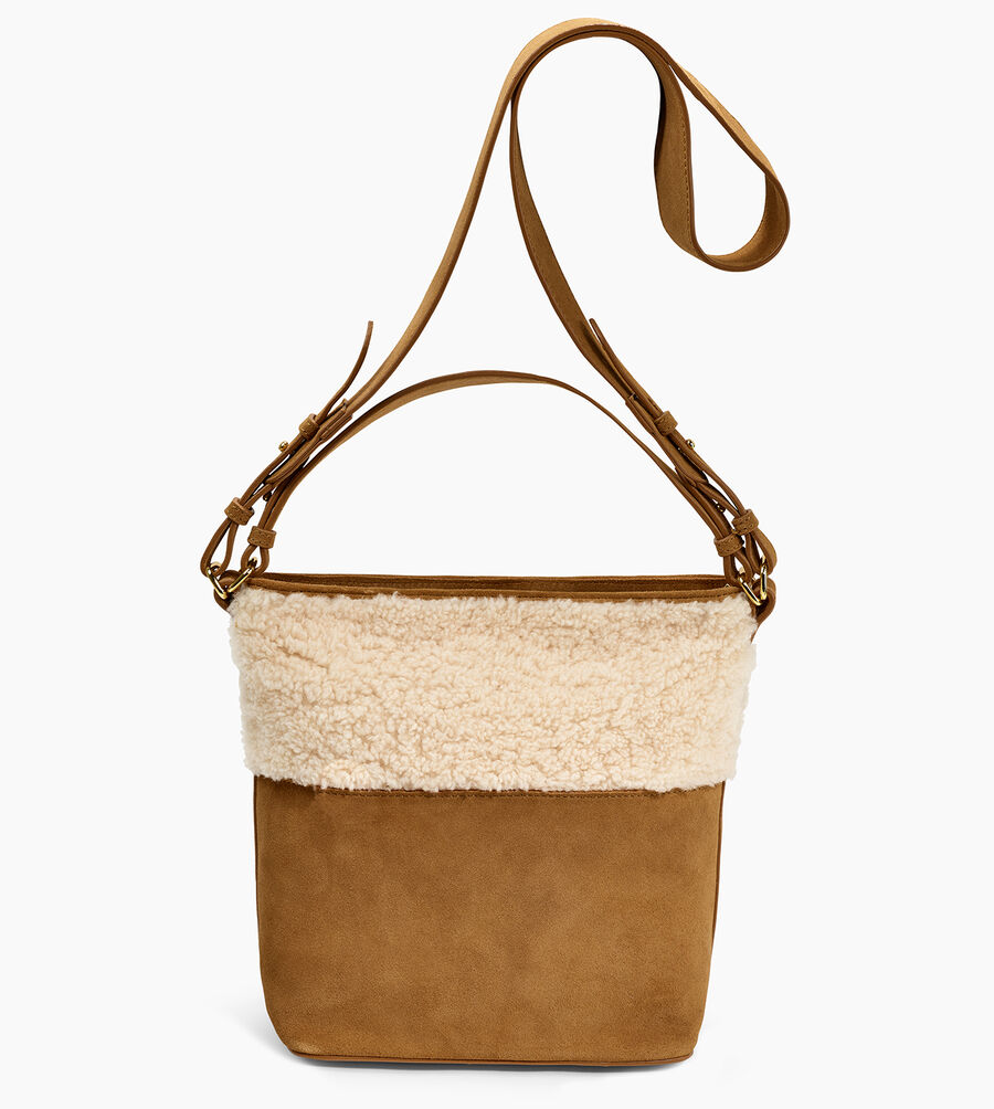 Libby Sheepskin Bucket Tote - Image 3 of 5