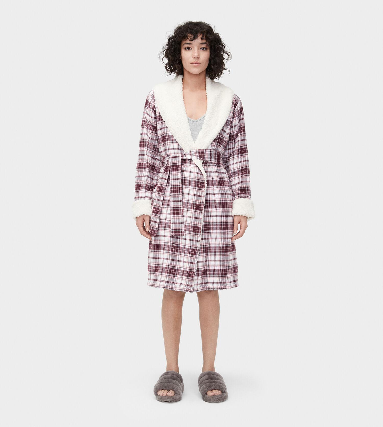 Zoom Anika Flannel Robe - Image 1 of 5 86f63e9781