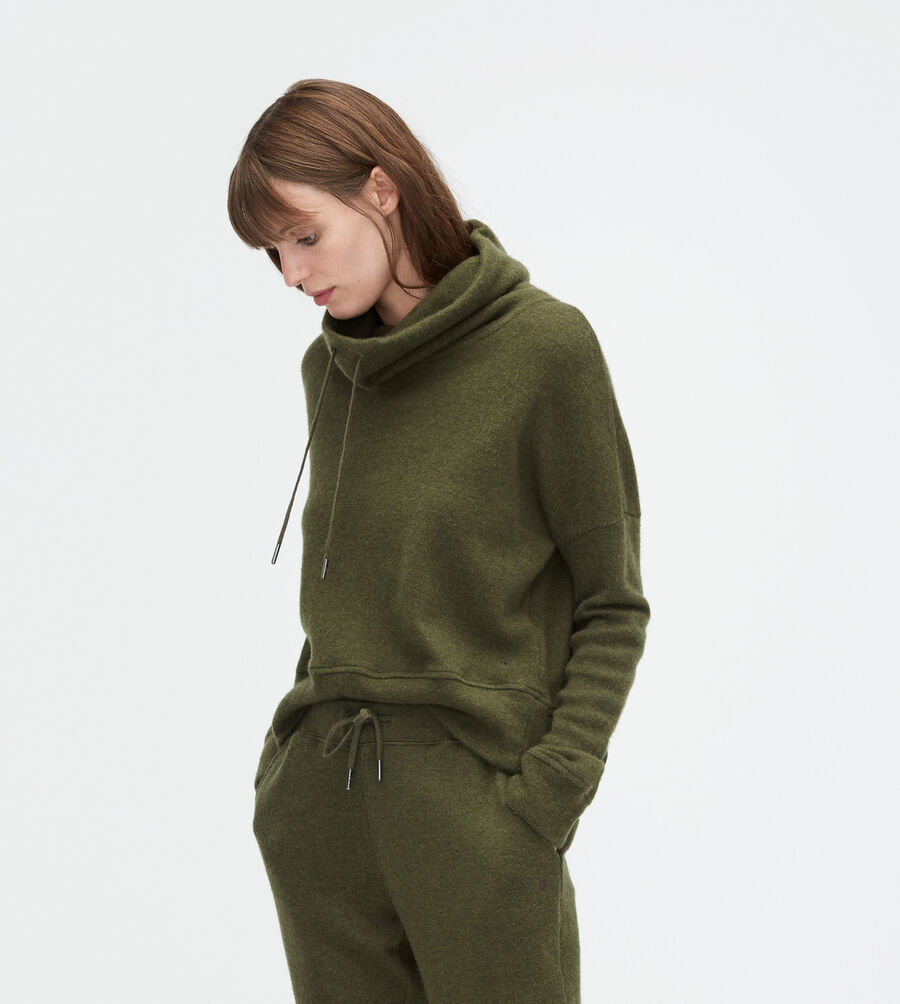 Wool Jersey Knit Funnel Neck - Image 1 of 2