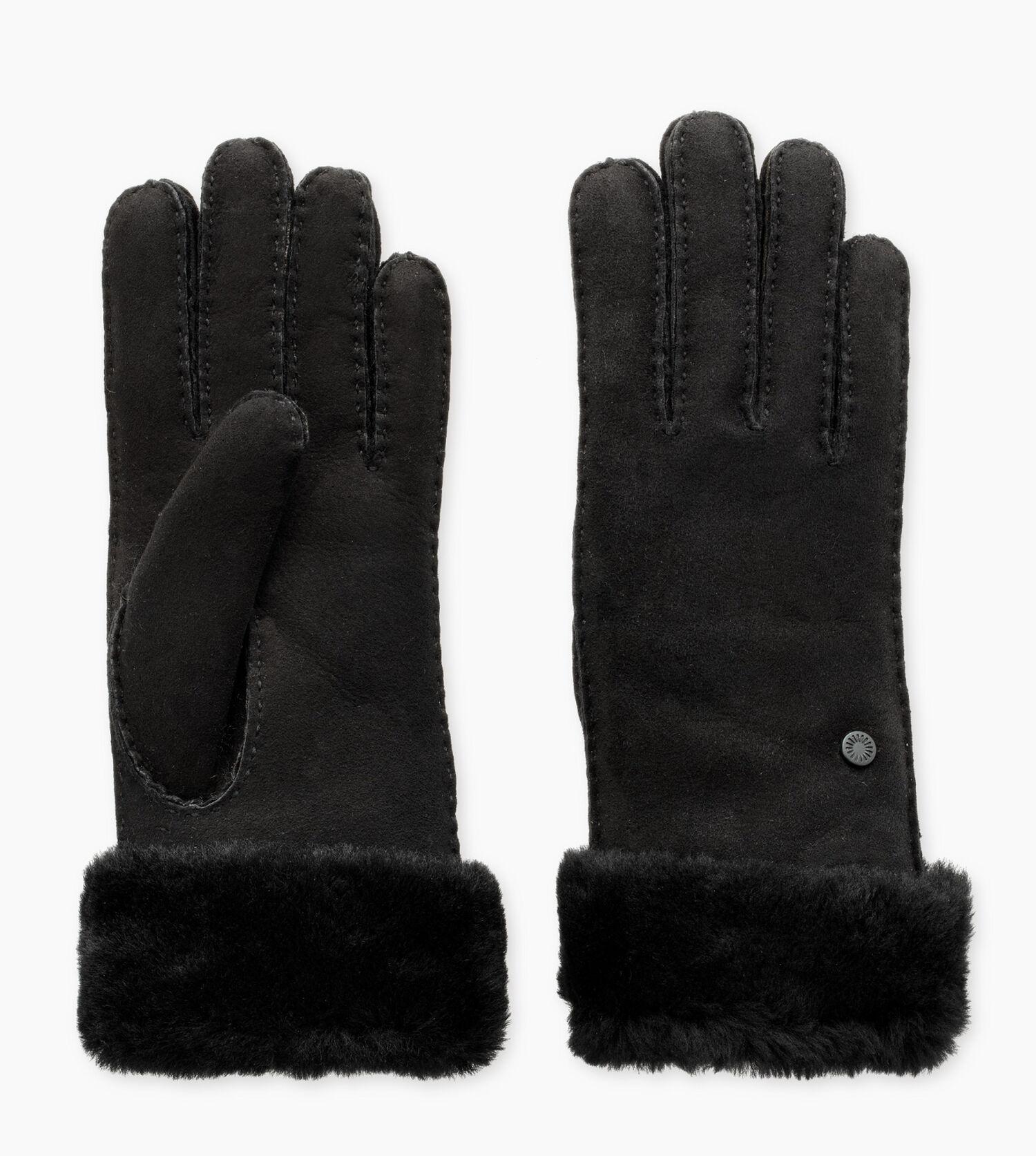 grey ugg turn cuff gloves