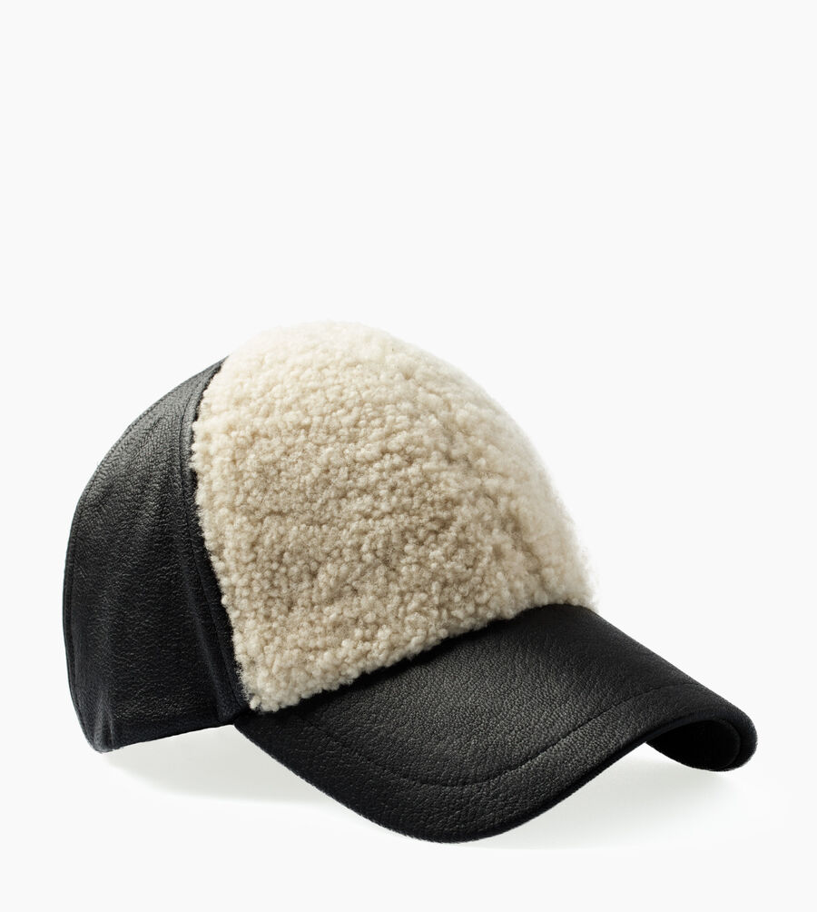 Curly Pile Leather Baseball Hat - Image 1 of 3