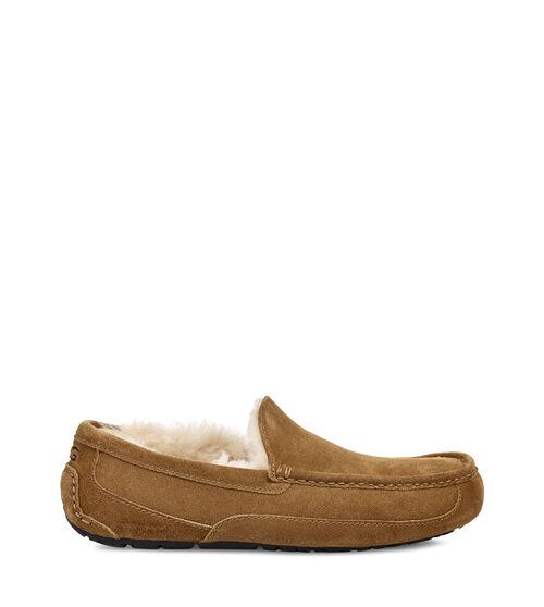 UGG Mens Ascot Slipper Suede In Chestnut, Size 10