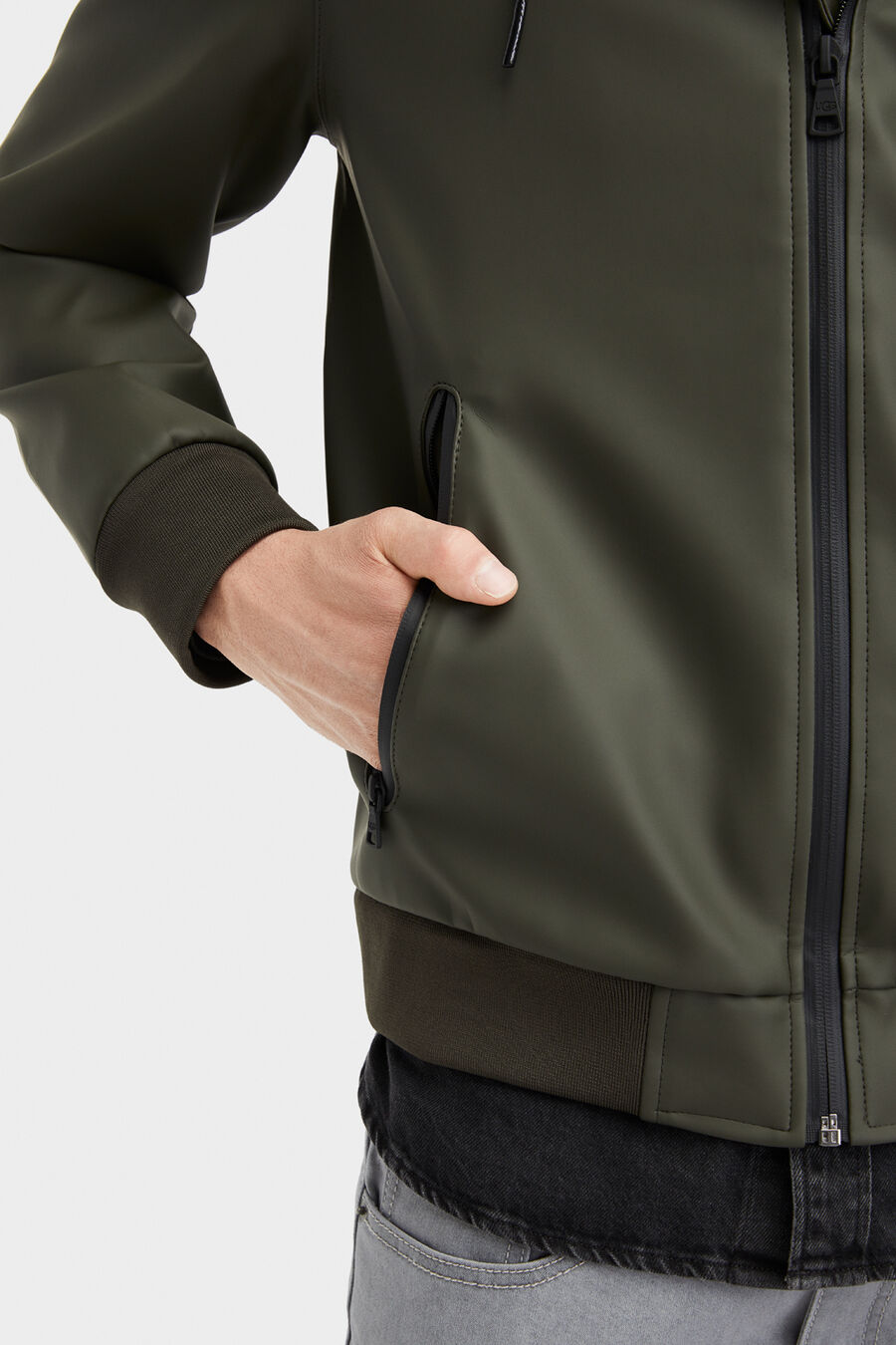 Diego Rubberized Hoodie - Image 3 of 6