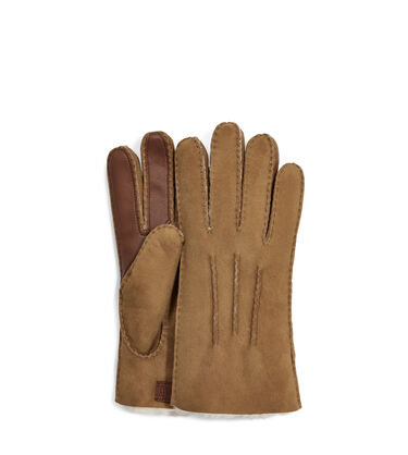 Contrast Sheepskin Tech Glove