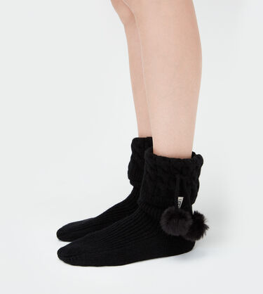 Pom Pom Short Rainboot Sock