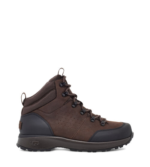 UGG Men's Emmett Boot Mid Leather, Size 9 Heritage design meets weather-ready performance in the Emmett Boot. Combining the flexibility and performance of a sports shoe with the stability, style, and functionality of a hiking boot, the Emmett is packed with high-tech features - from its seam-sealed waterproof leather upper to its cold-weather rating of -32 C (or -25.6 F). The dynamic support shank provides torsional stability over varied terrain, while the cushioned sole is equipped with specially-engineered treads to help prevent snow from getting caught underfoot. Additionally, the White Spider Rubber outsole features ice-gripping rubber lugs on the forefoot and heel, enhancing traction on wet and frozen surfaces. Wear with light weatherwear, chinos and a softshell, or jeans and a flannel. UGG Men's Emmett Boot Mid Leather, Size 9
