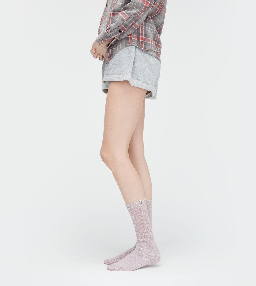 Rib Knit Slouchy Crew Sock - Image 4 of 5