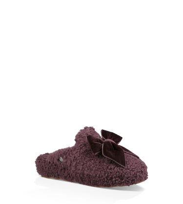 Addison Velvet Bow Slipper