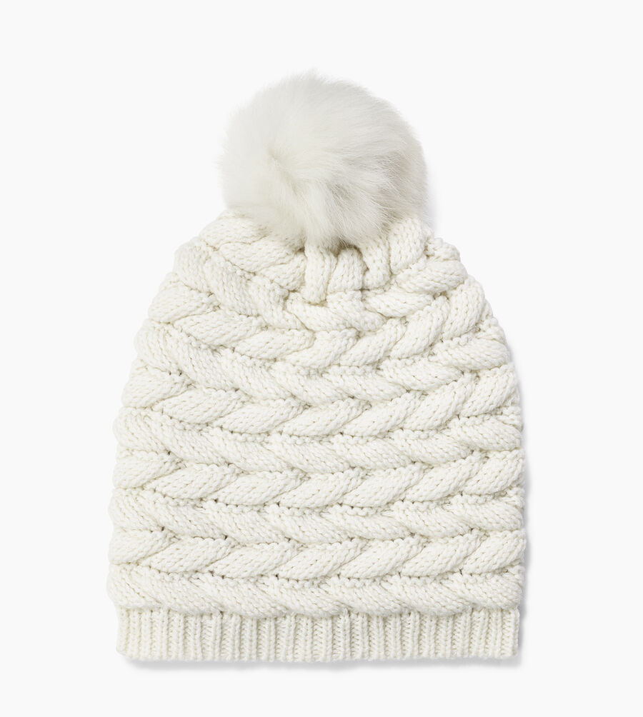 Cable Hat with Pom - Image 1 of 2