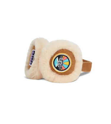 Sheepskin Earmuff With Patches Alternative View