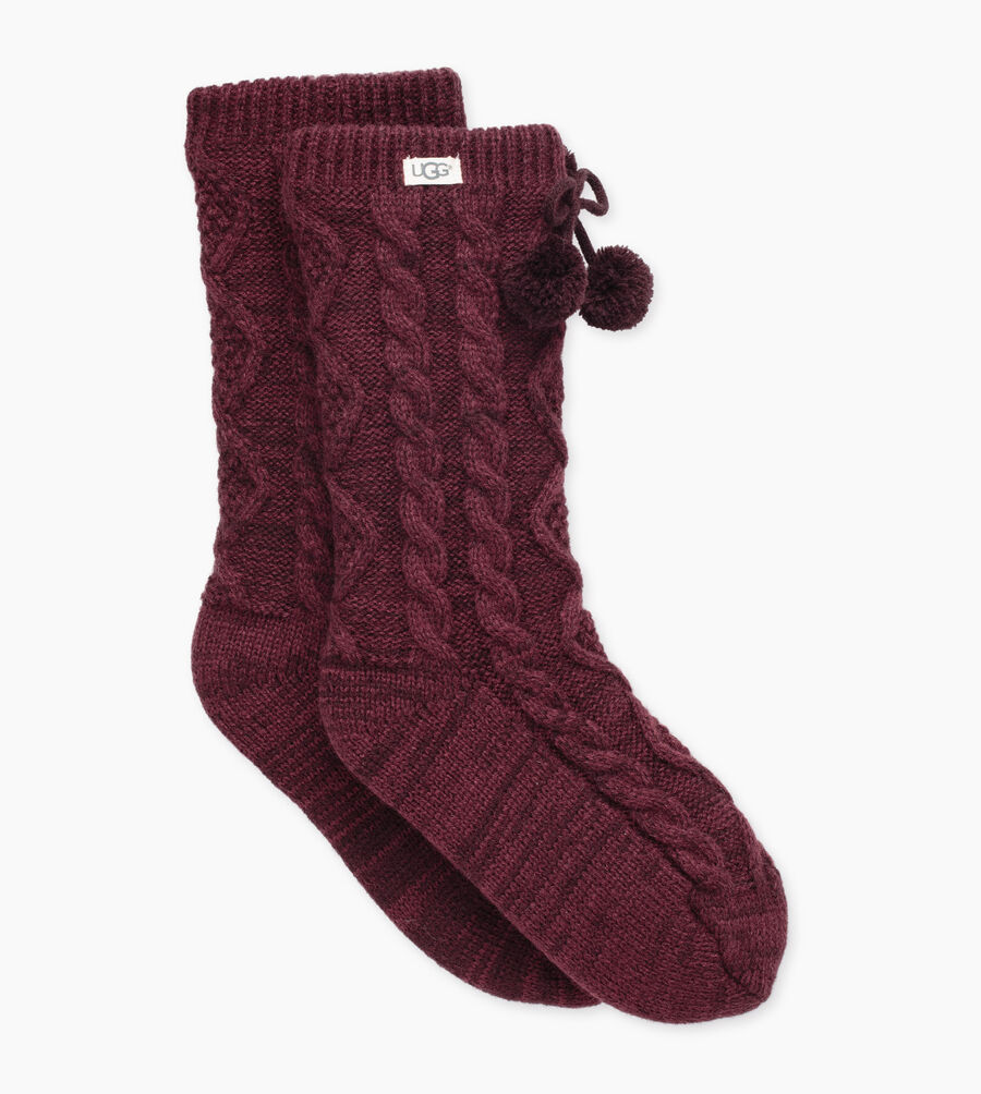 Pom Pom Fleece-Lined Crew Sock - Image 1 of 2