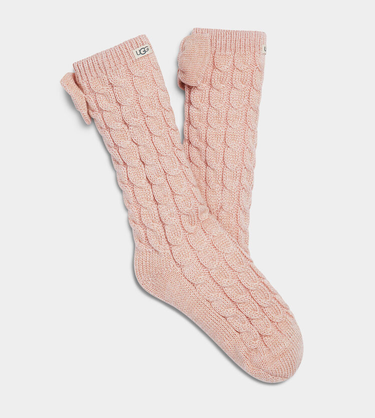 Laila Bow Fleece Lined Sock