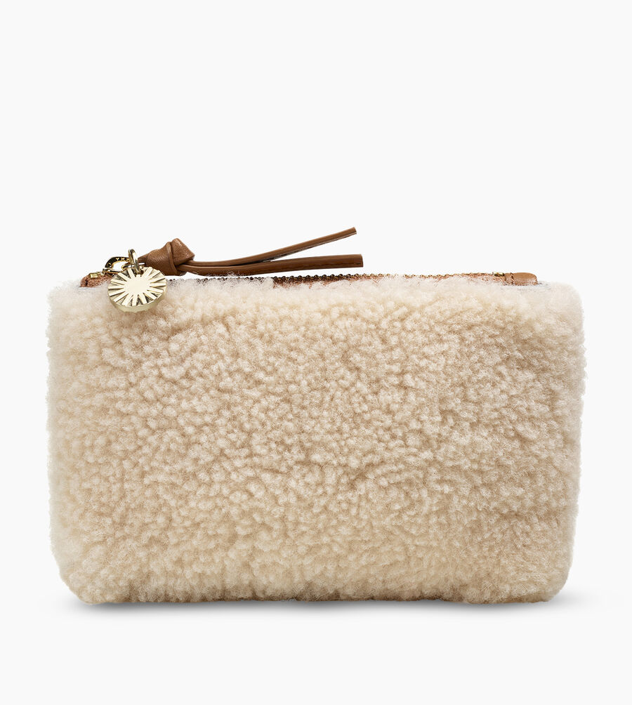 Small Sheepskin Zip Pouch  - Image 1 of 5