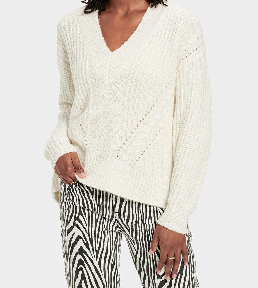 Alva Deep V-Neck Sweater - Image 3 of 6