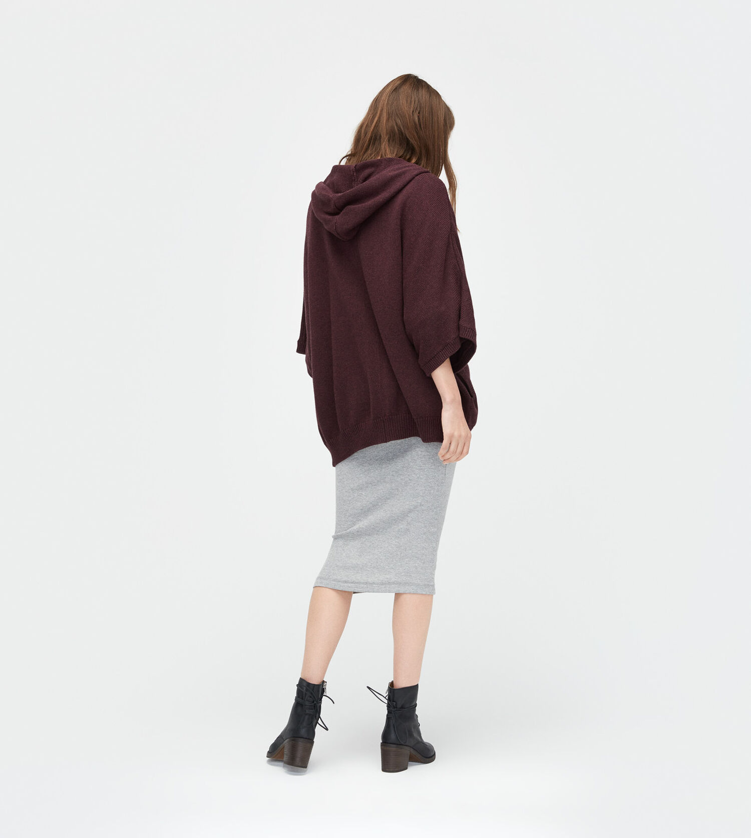 Zip Up Sweater Poncho 109