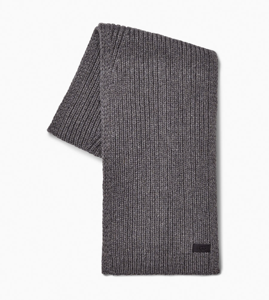 Ribbed Knit Stripe Scarf - Image 2 of 2