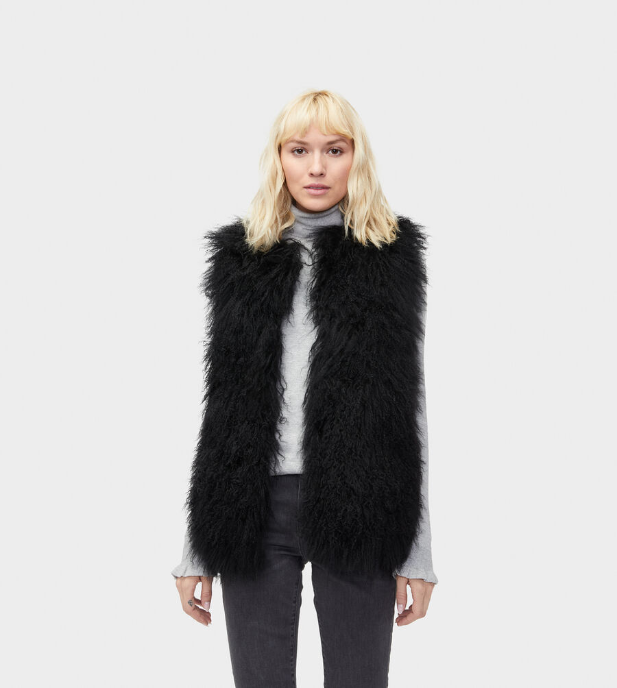 Abbey Mongolian Shearling Vest - Image 1 of 5
