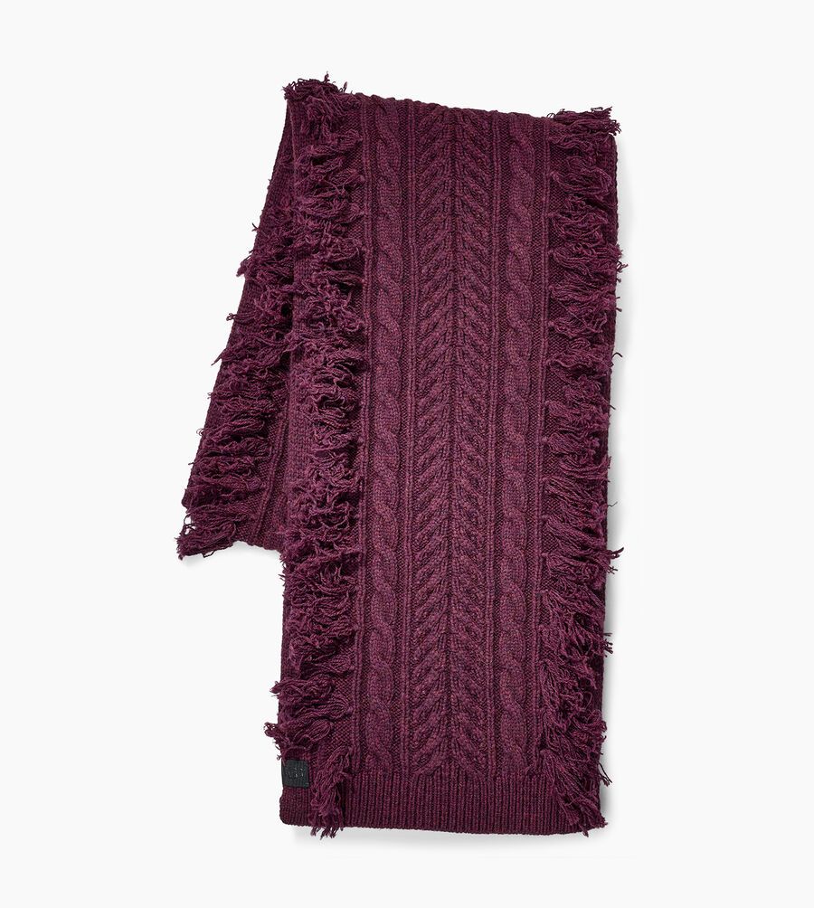 Cable Fringe Scarf - Image 1 of 3