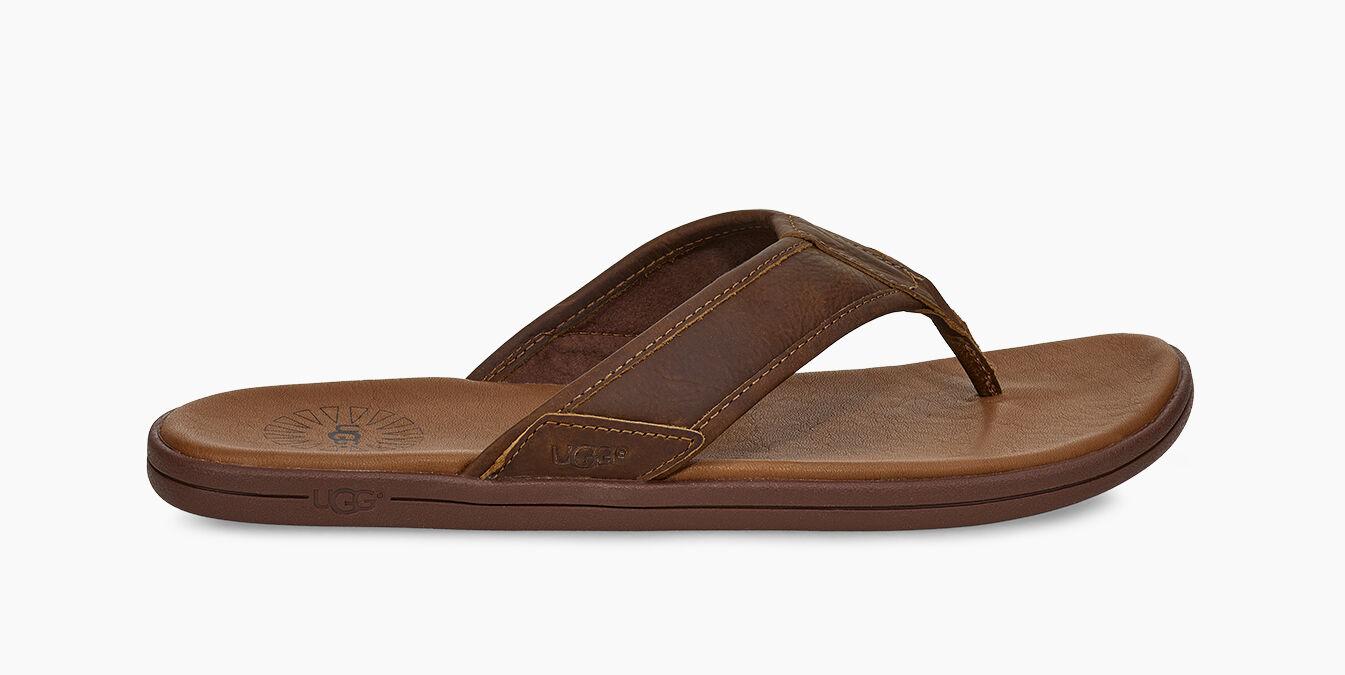 Men's Seaside Leather Flip Flop   UGG